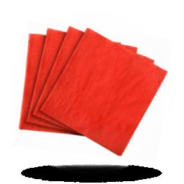 Servetten 40x40cm 3-laags,  Jalapeno red