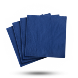 Servetten 40x40cm 3-laags, Royal blue