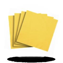 Servetten 40x40cm 3-laag, Sun yellow