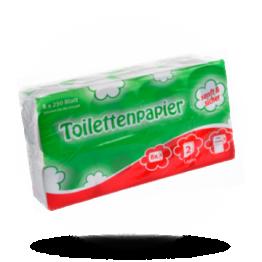Toiletpapier 250 vel, 2-laags