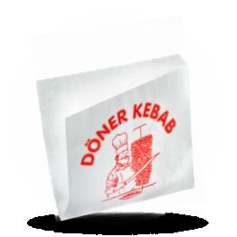 Döner kebab zakjes Kraft bedrukt, 16x16cm