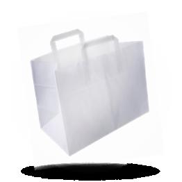 Papieren draagtassen 26x17x26cm onbedrukt