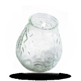 Glas Kaarsen 100x105mm wit