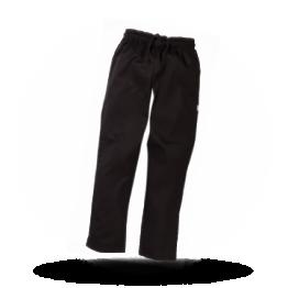 Unisex koksbroek Zwart M