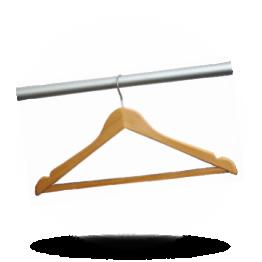 Garderobehanger Hout met metalen haak