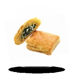 Mini Kaas-Spinazie pastei Grieks, bladerdeeg, per 34g verpakt, diepvries