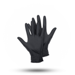 Latex handschoenen Zwart, maat S