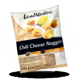 Chili cheese nuggets Pittige kaas en Jalapeno snack, diepvries
