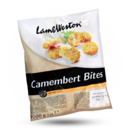 Camembert bites Knapperige camembert snack, diepvries