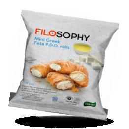 Filo minibroodjes Met Feta-kaas en extra vierge olijfolie, diepvries