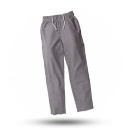 Unisex koksbroek Zwart/wit geruit L