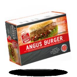 100% Angus hamburgers 180g per stuk, diepvries