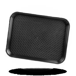 Dienblad polypropyleen 35x45cm, zwart