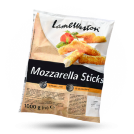 Mozzarella sticks Gepaneerde mozarellasnack, diepvries