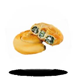 Mini spiraaltaart met feta en spinazie Grieks, diepvries