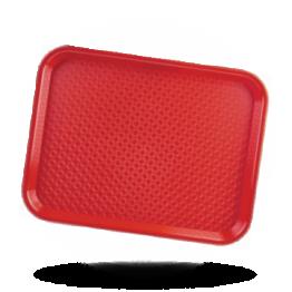 Dienblad rood 34,5x26,5cm