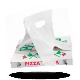 Pizzadoos draagtas HDPE