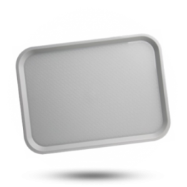 Dienblad plastic 305x415mm, grijs