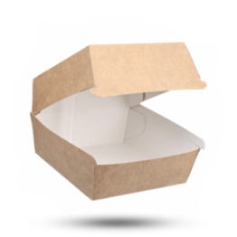 Hamburgerbox Karton, Kraft Bruin, 11,5x11,5x8cm