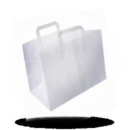 Papieren draagtas 26x17x26cm, onbedrukt