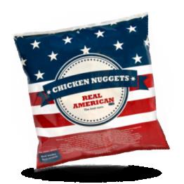 Chicken nuggets Halal Gekruide knapperige kipsnack, diepvries