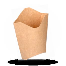 Frietscoop Karton, Kraft Bruin