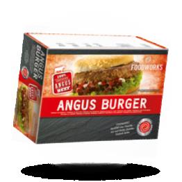 100% Angus hamburgers 198g per stuk, diepvries