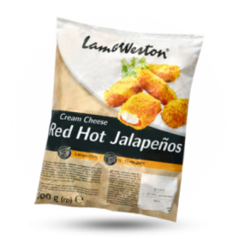 Red hot Jalapenos Gepaneerde kaas-jalapeno snack, diepvries