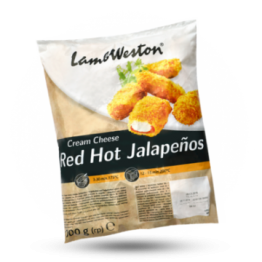 Red hot Jalapenos Gepaneerde kaas-jalapeno snack, diepvries