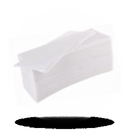 Handservetten 25x23cm, 2-laags, wit, gestapeld